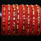 Red glass indian bangles