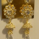 crystal Jhumka Indian earrings