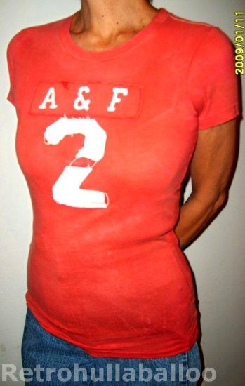New Abercrombie Sopia Brick Red tshirt