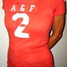 New Abercrombie Sopia Brick Red tshirt