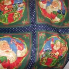 SANTA CLAUS Colorful Christmas Craft Squares - 1 yd