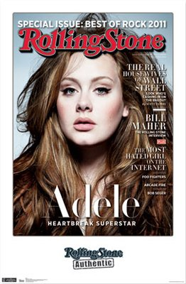 NEW ADELE - ROLLING STONE  22.25 x 34  MUSIC POSTER