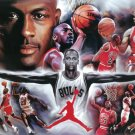 NEW MICHAEL JORDAN - COLLAGE PAINTING 24 X 36 SPORTS POSTER