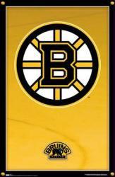 New Boston Bruins logo- 22 1/4'' X 34'' Nhl Poster
