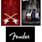 "Fender Guitar - 3  22'' x 34"" Poster Set"