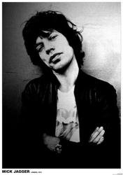 Rolling Stones - Mick Jagger, London 1975 (23 1/2'' X 33'') Music Poster