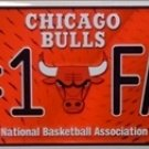 Chicago Bulls #1 Fan NBA Embossed Metal Novelty License Plate Tag Sign