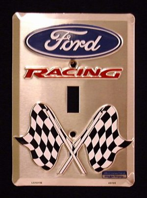 Ford Racing Novelty Light Switch Covers (single) Plates