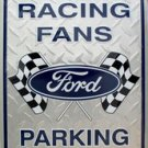 Ford Logo Ford Racing Fans Parking Only Novelty Embossed Metal Parking Sign