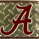 Alabama BAMA Crimson Tide Embossed Diamond Metal Novelty License Plate Tag Sign
