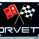 Chevrolet Corvette Flag Emblem Novelty License Plate Tag Sign