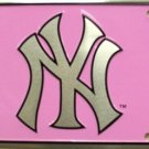 New York Yankees Pink MLB Embossed Metal Novelty License Plate Tag Sign