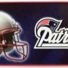 New England Patriots NFL Embossed Metal Novelty License Plate Tag Sign