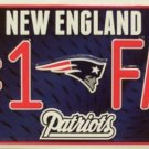 New England Patriots #1 Fan NFL Embossed Metal Novelty License Plate Tag Sign