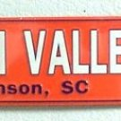 NCAA Clemson South Carolina Death Valley Tigers Embossed Metal Arrow Sign