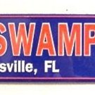 NCAA University of Florida UF Gators The Swamp Embossed Metal Arrow Sign
