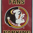 Florida State University Seminoles Fans Parking Only Novelty Embossed Metal Parking Sign