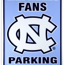 University of North Carolina Tar Heels Fans Parking Only Novelty Embossed Metal Parking Sign