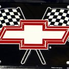 Chevrolet Chevy Racing Flags Novelty Metal License Plate