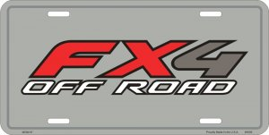 Ford Truck FX4 Off Road Embossed Metal Novelty License Plate Tag Sign