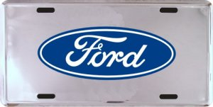Ford Logo Oval Metal Novelty License Plate Tag Sign