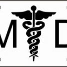 MD Medical Doctor Metal Novelty License Plate Tag Sign