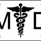 MD Medical Doctor Metal Novelty License Plate Tag Sign
