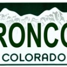 NFL Denver Broncos - Colorado Novelty State Background Metal License Plate Tag Sign