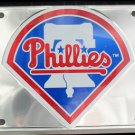 Philadelphia Phillies MLB Embossed Chrome Metal Novelty License Plate Tag Sign