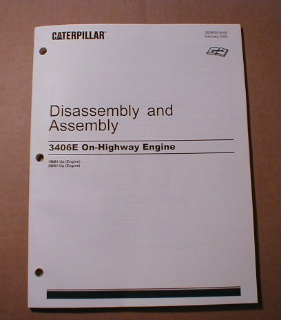Caterpillar 3406E Disassembly & Assembly Manual