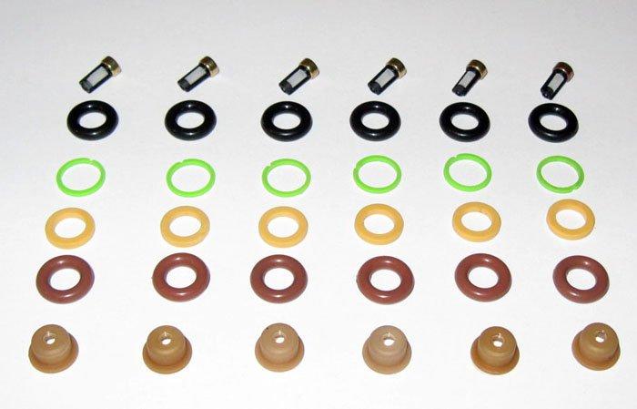 Fuel Injector Service  Rebuild kit 6 Cylinder Engine - Bosch type EV1
