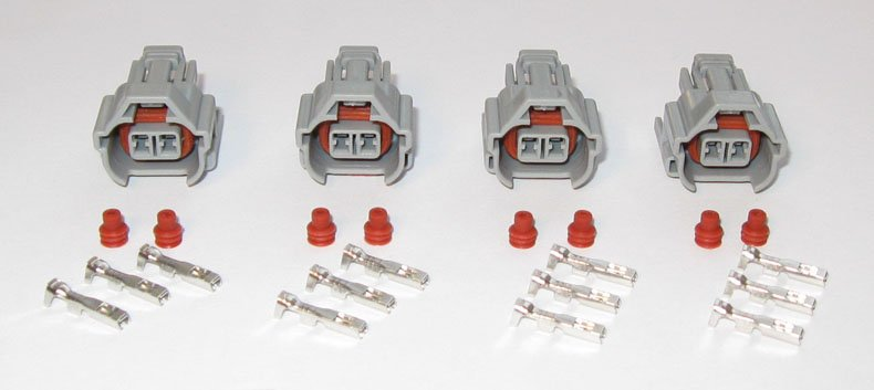 (4) Nippon Denso Fuel Injector Connectors Sard Tomei Blitz HKS Helix 1jz 2jz Toyota