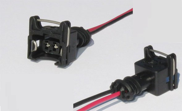 4 Ev1 Fuel Injector Connectors With Pigtail Bosch Bmw Volvo Vw Porsche Nissan Gm Delphi Obd1