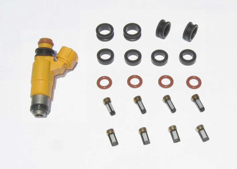 Yamaha Outboard Fuel Injector Service kit - Orings, Seals, Basket filters 115HP 150HP