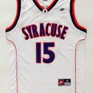 Carmelo Anthony 15 NCAA Syracuse Basketball White Stitched Jersey Size S-2XL
