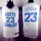 Michael Jordan 23 North Carolina Basketball White Sewn Jersey Size S-2XL