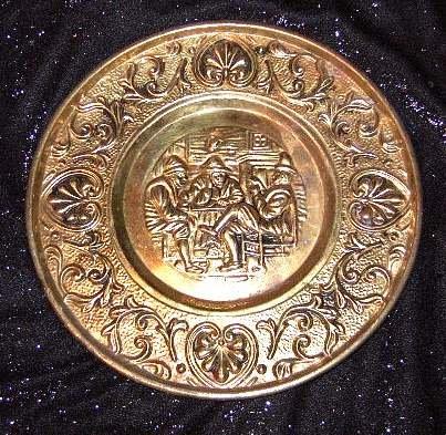 """Brass Wall Plate, 11"""""""