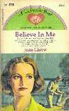 Carew, Jean - Believe in Me, Vintage Paperback