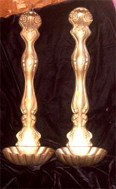 Gold Metal Ladles Set, circa 1950-1960