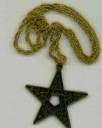 Gold Osirian Order Pentagram
