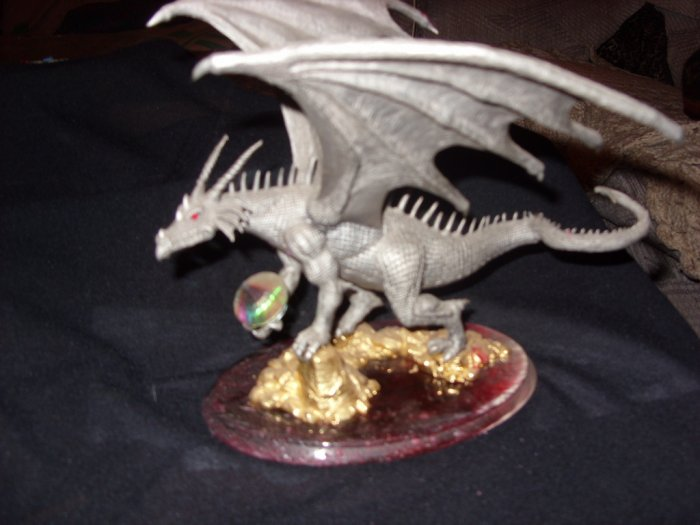 Large Limited Edition Collectible Pewter Dragon ON SALE