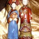 Vintage Stoneware Chinese Figures (Emperor & Empress