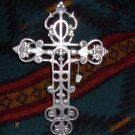 Large Silver Metal Cross