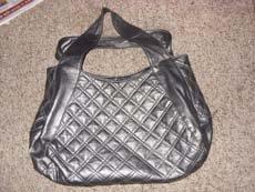 Ladies Large Gray/Silver Vintage Purse