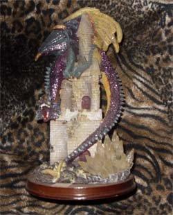 Castle Guarded by Dragon sculpture