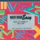Math Made Easy: Pre Algebra 1 PFA-100 (VHS)