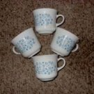 Corelle Blue Heather Cups by Corning, circa 1981