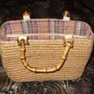 Tan Bamboo Handle Purse by Jennifer Moore