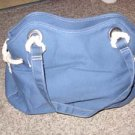 Blue Cloth Purse w/ White natical Knots by Sonoma
