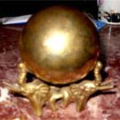Vintage Brass Globe with Elephant Stand
